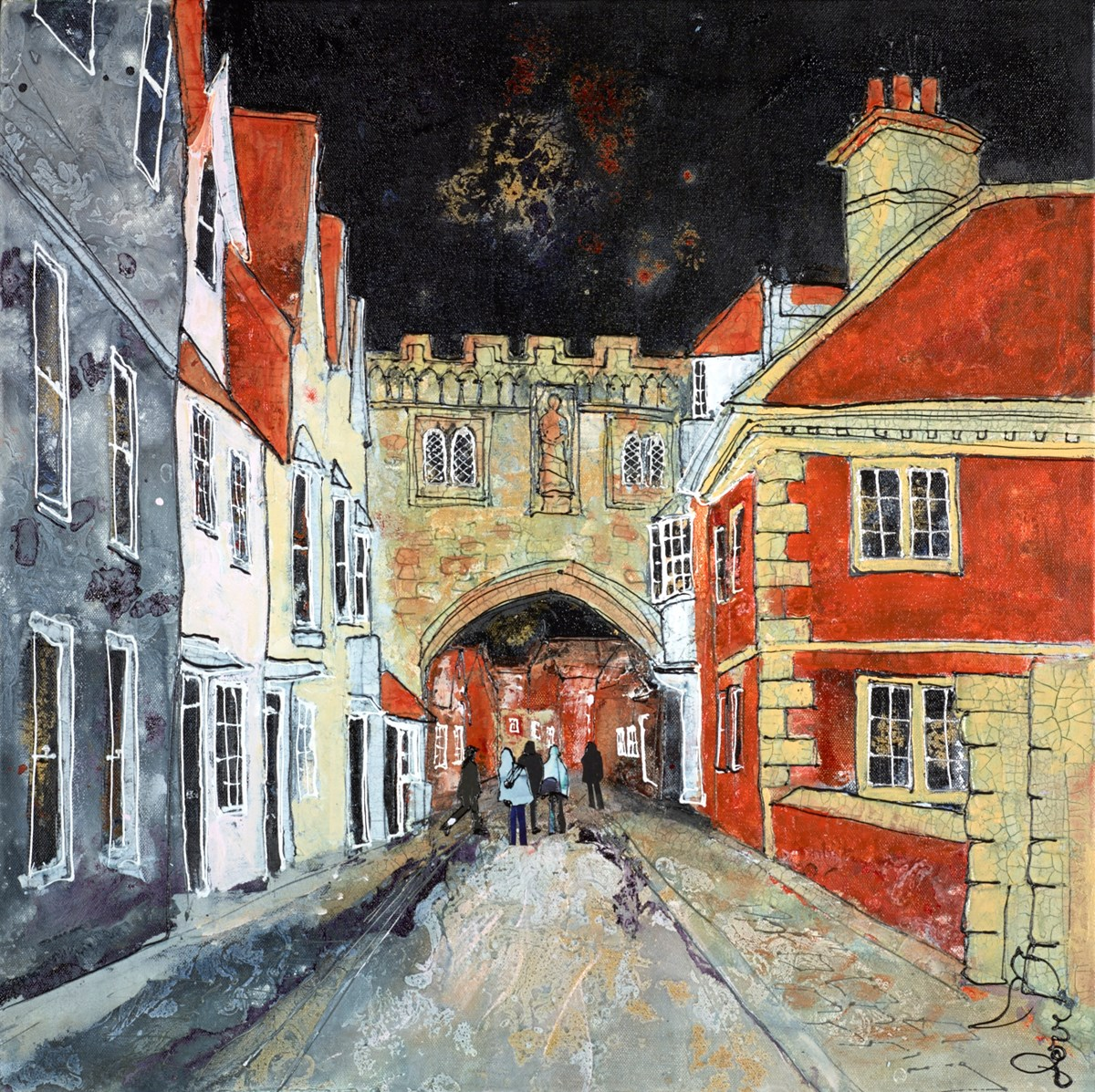 Salisbury North Gate II by katharine dove -  sized 24x24 inches. Available from Whitewall Galleries